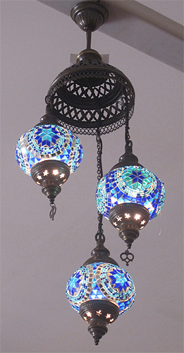 Turkish mosaic glass lanterns picture 6944 set 3 turkish mosaic glass chandelier aloadofball Images